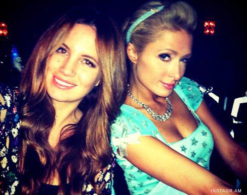 Paris Hilton at Universal Halloween Horror Nights 2011 with Cari Sladek