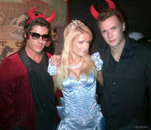 Paris Hilton Cinderella Halloween costume with brother Barron Hilton