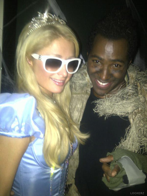 PAris Hilton and DJ Ruckus together in Halloween costumes
