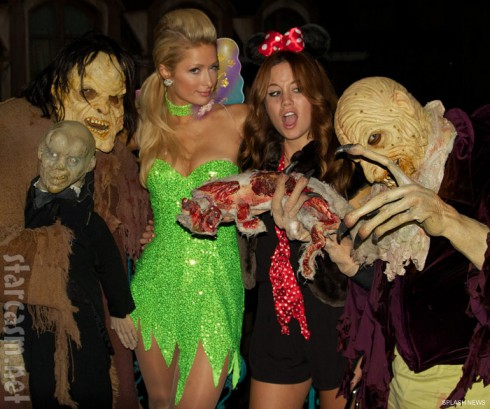 Paris Hilton at Universal Studios Halloween Horror Nights 2011