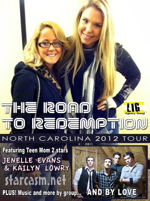 Jenelle Evans Kailyn Lowry Road To Redemption Tour 2012 poster