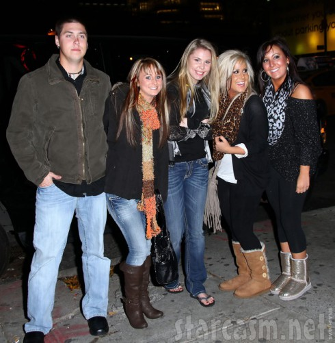 Jeremy Calvert Leah Messer Kailyn Lowry Chelsea Houska and Chelsea's friend in New York