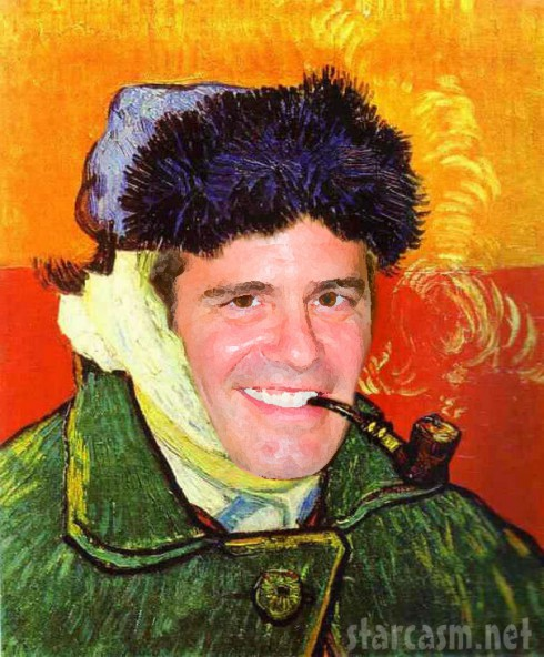 Vincent Van Cohen Andy Cohen and Vincent Van Gogh mash up