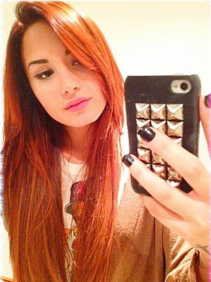 Demi Lovato dyed hair red