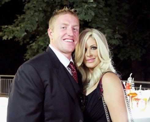Kim Zolciak and Kroy Biermann at Cynthia Bailey's wedding