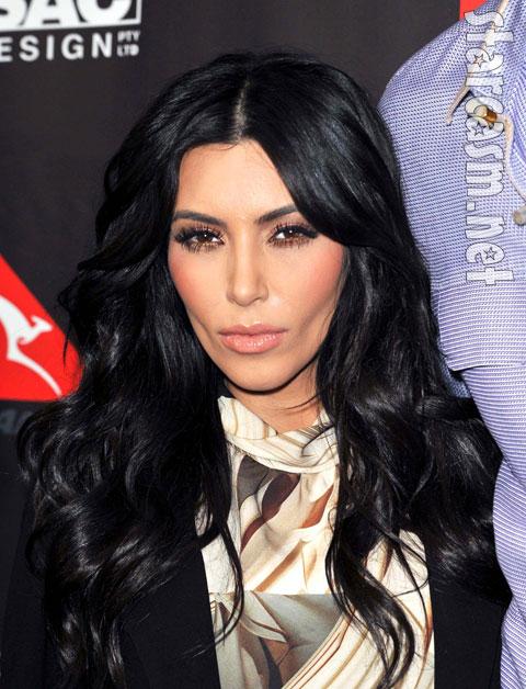 Somber Kim Kardashian