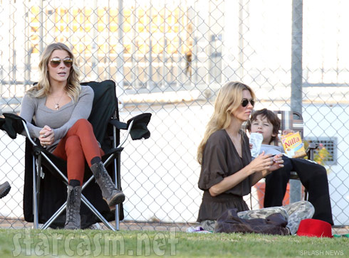 Brandi Glanville and LeAnn Rimes together at Brandi's son Mason's soccer game