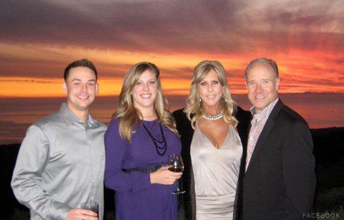 Vicki Gunvalson with boyfriend Brooks Ayers daughter Briana and son-in-law Ryan Culberson