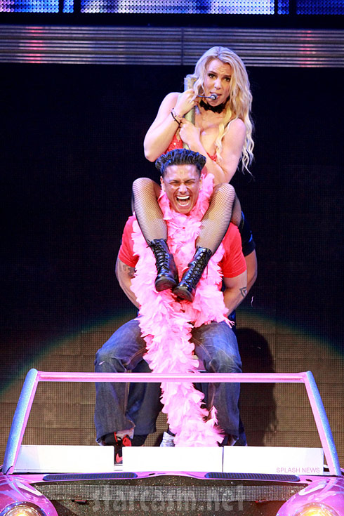 Britney Spears gives Pauly D a lap dance during Femme Fatale show in Puerto Rico