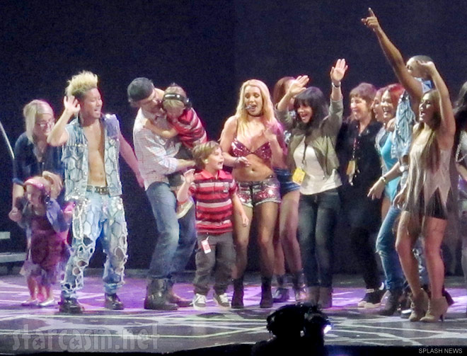 Britney Spears joined by her family on stage in San Juan Puerto Rico