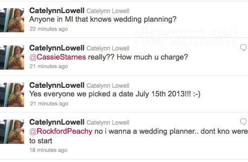 Catelynn Lowell announces her and Tyler Baltierra's wedding date on Twitter