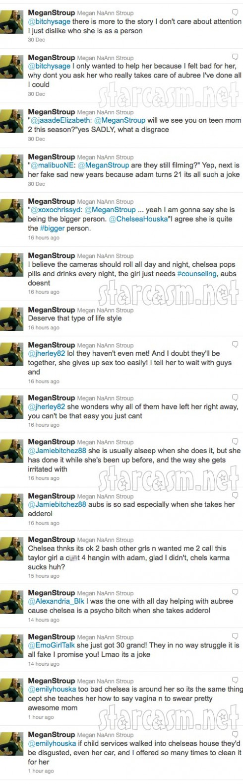 Megan Stroup continues to tweet about Teen Mom 2 star Chelsea Houska