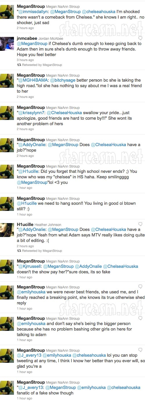Megan Stroup's angry tweets towards Teen Mom 2 star Chelsea Houska part 4