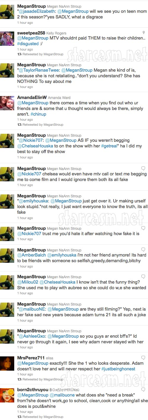 Megan Stroup's angry tweets towards Teen Mom 2 star Chelsea Houska part 5