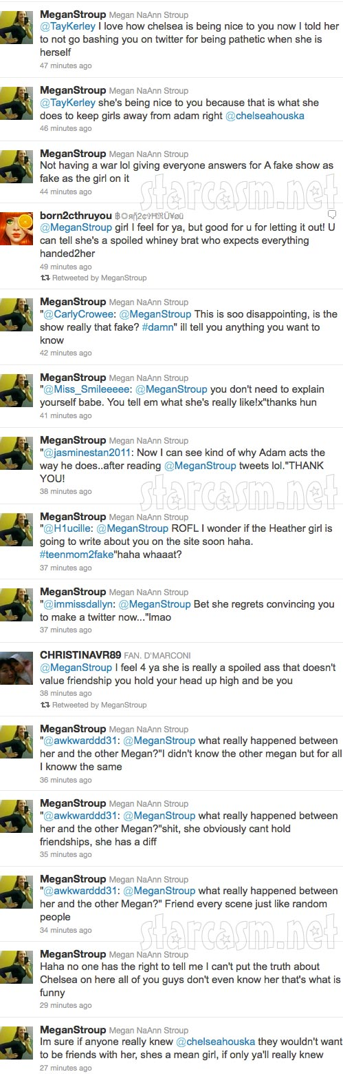 Megan Stroup's angry tweets towards Teen Mom 2 star Chelsea Houska part 6