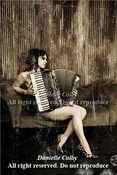 Danielle Colby Cushman accordian burlesque poster