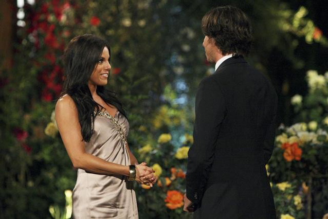 The Bachelor contestant Elyse Myers meets Ben Flajnik for the first time