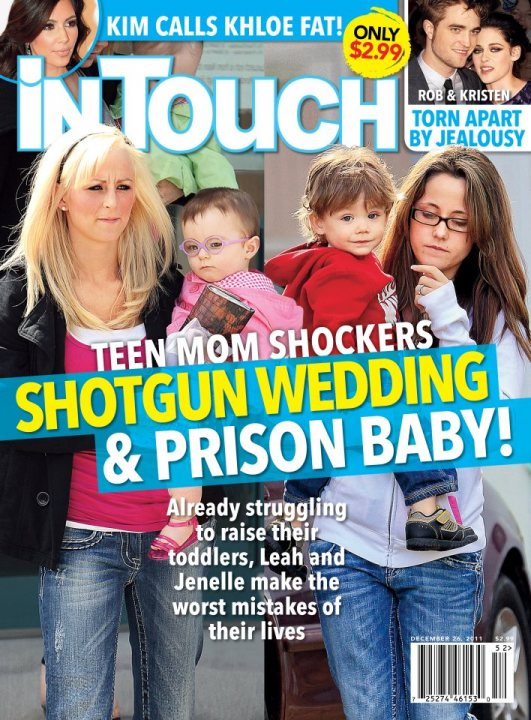 December 26 2012 In Touch cover with Teen Moms Leah Messer and Jenelle Evans
