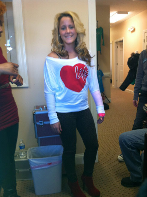 Jenelle Evans wears Pasion fashion for event in Fayetteville, North Carolina