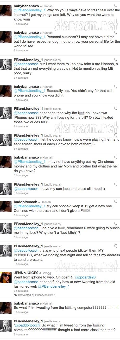Jenelle Evans Hannah Inman Twitter feud part 2 of 3