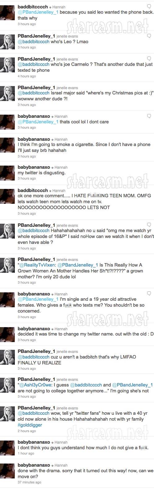 Jenelle Evans Hannah Inman Twitter feud part 3 of 3