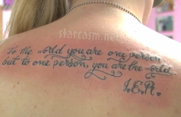 Teen Mom Kaily Lowry back tattoo