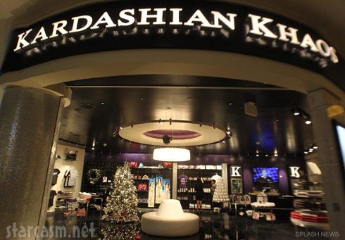 Photo of the Kardashian Khaos store at The Mirage in Las Vegas
