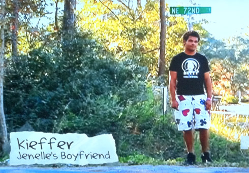 Teen Mom's Kieffer Delp wearing some poker shorts with card suits