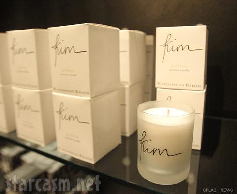 Kim Kardashian candles available at Kardashian Khaos at The Mirage in Las Vegas