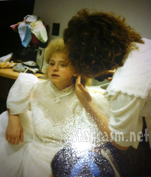 Momma Dawn Spears on her first wedding day when she was 16