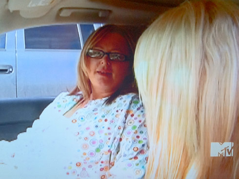 Teen Mom Leah Messer's mom Momma Dawn in colorful scrubs on the Season 2 Premiere