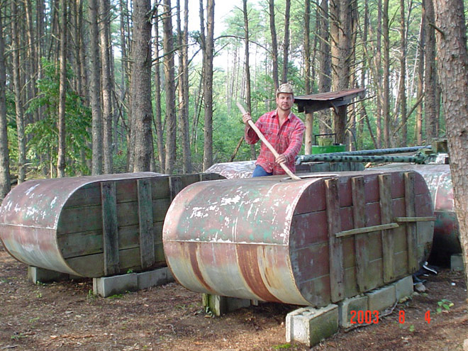 Moonshiners star Tim Smith and his famous still pots