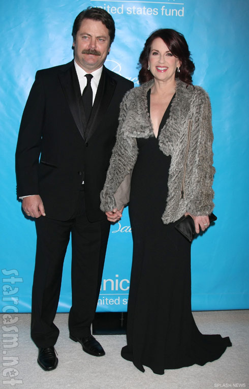 Nick Offerman and wife MEgan Mullally at 2011 UNICEF Ball
