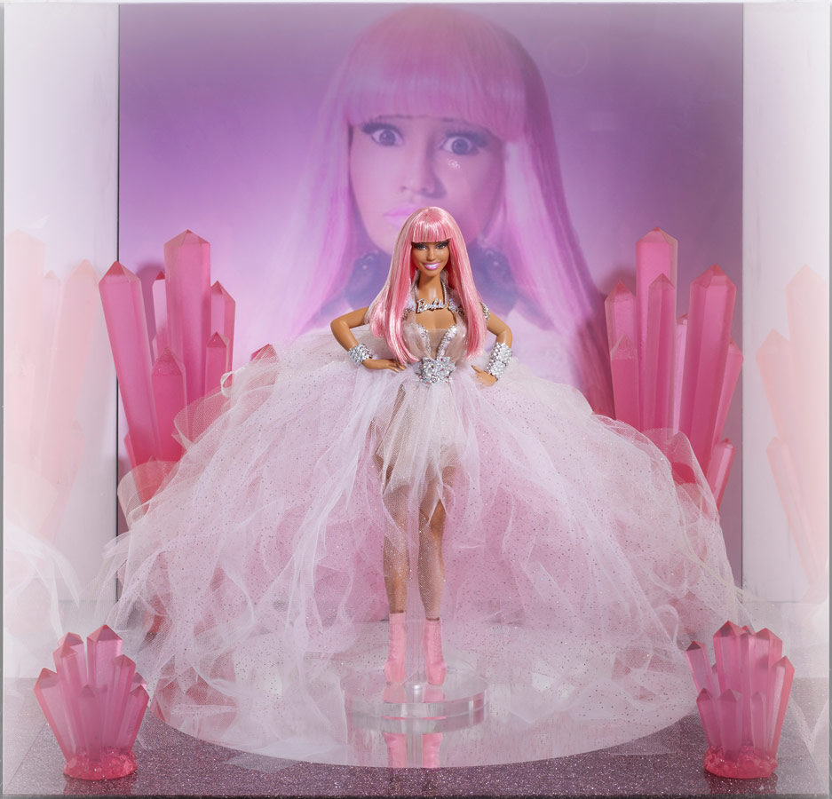 Nicki Minaj Barbie doll inspired by Pink Friday album cover