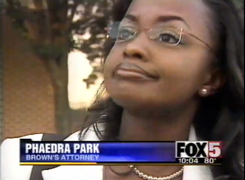 Phaedra Parks in 2004 when she was the defense attorney for Bobby Brown