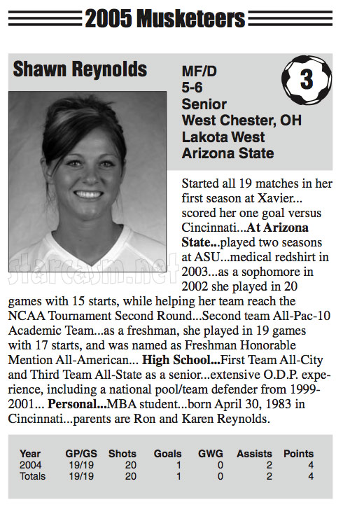 The Bachelor's Shawn Reynolds Xavier University soccer player profile