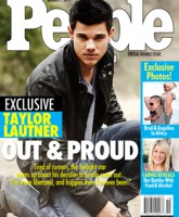 Taylor Lautner Out and Proud People magazine cover January 2012