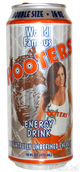 Blakeley Shea Hooters Energy Drink can