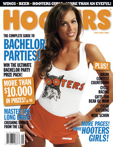 The Bachelor's Blakeley Ahea on the cover of Hooters magazine May 2006 issue