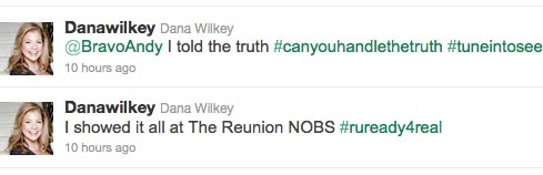 Dana Wilkey tweets about Real Hosuewives of Beverly Season 2 Reunion Special