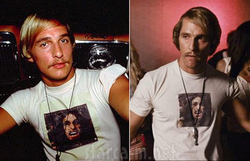 Matthew McConaughey side-by-side of David Wooderson