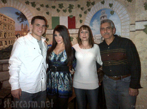Deena Nicole Cortese with her mom and dad and new boyfriend Chris Buckner