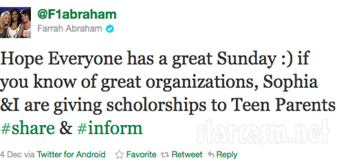 Teen Mom Farrah Abraham to offer scholarships to teen parents