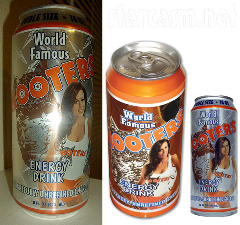 Hooters Energy Drink cans with Blakeley Shea Jones from The Bachelor