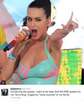 Katy Perry Facebook photo
