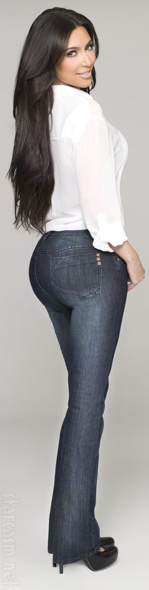 Kim Kardashian's big booty in jeans