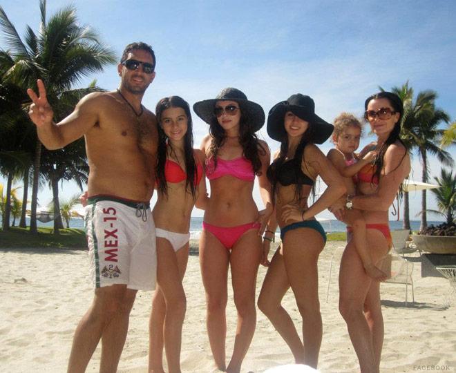 Kyle Richards family vacation photo