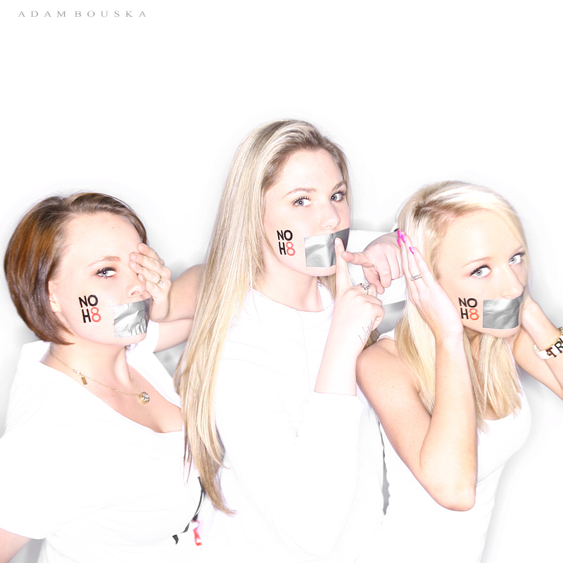 NOH8 photo with Teen Moms Catelynn Lowell, Kailyn Lowry and Maci Bookout