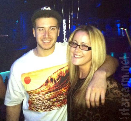 Jersey Shore's Vinny Guadagnino with Teen Mom Jenelle Evans