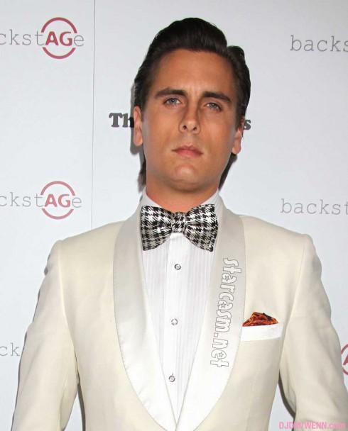 Scott Disick with bowtie on the red carpet